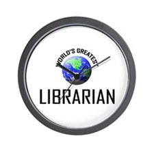 World's Greatest LIBRARIAN Wall Clock
