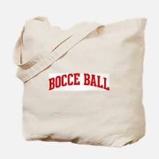 Bocce Ball (red curve) Tote Bag