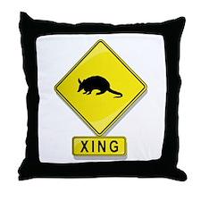 Armadillo XING Throw Pillow