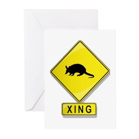 Armadillo XING Greeting Cards (Pk of 20)