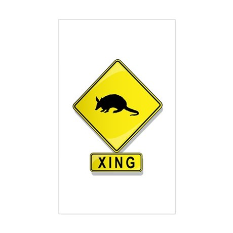 Armadillo XING Rectangle Sticker