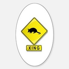 Armadillo XING Oval Decal