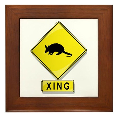 Armadillo XING Framed Tile