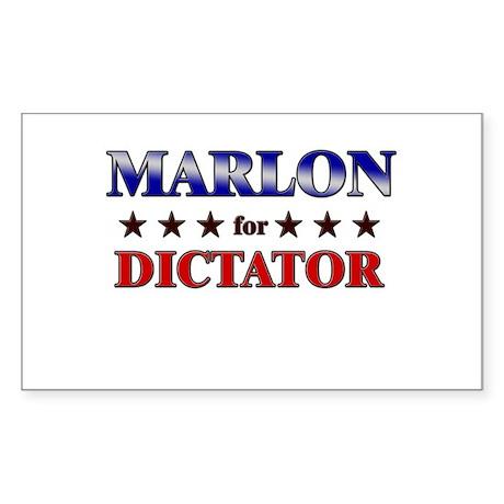 MARLON for dictator Rectangle Sticker
