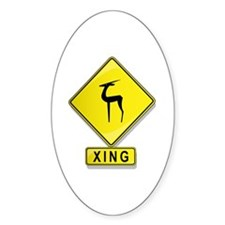 Antelope XING Oval Decal