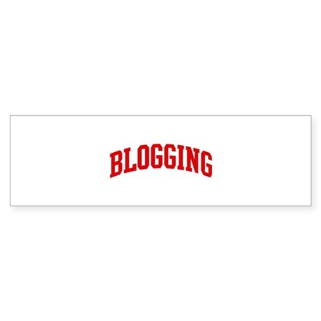 Blogging (red curve) Bumper Sticker