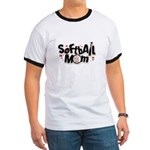 SOFTBALL MOM Ringer T