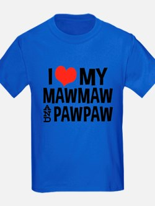 I Love My MawMaw and PawPaw T-Shirt