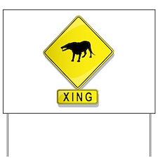 Andrewsarchus XING Yard Sign