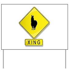 Alpaca XING Yard Sign