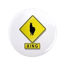 "Alpaca XING 3.5"" Button (100 pack)"
