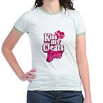 KISS MY CLEATS Jr. Ringer T-Shirt