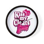 KISS MY CLEATS Wall Clock