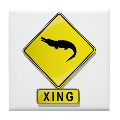 Alligator XING Tile Coaster