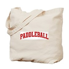 Paddleball (red curve) Tote Bag