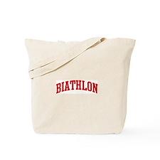Biathlon (red curve) Tote Bag