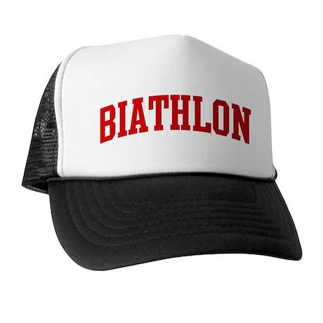 Biathlon (red curve) Trucker Hat
