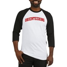Orienteering (red curve) Baseball Jersey