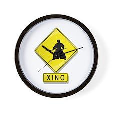 Aikidoist XING Wall Clock