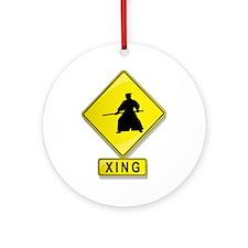 Aikidoist XING Ornament (Round)