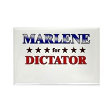 MARLENE for dictator Rectangle Magnet
