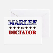 MARLEE for dictator Greeting Card
