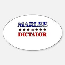 MARLEE for dictator Oval Decal