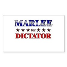 MARLEE for dictator Rectangle Decal