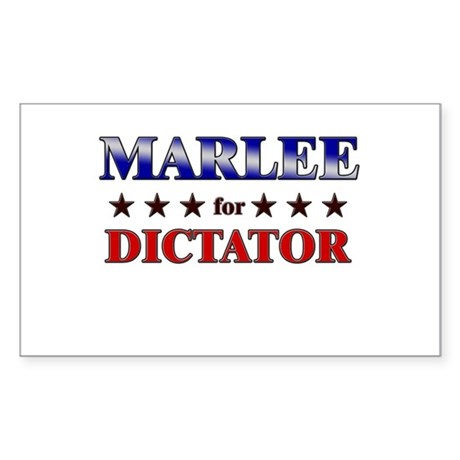 MARLEE for dictator Rectangle Sticker