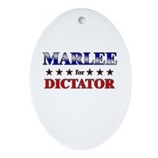 MARLEE for dictator Oval Ornament
