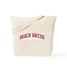 Beach Soccer (red curve) Tote Bag