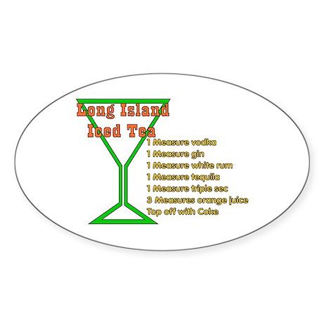 Long Island Iced Tea Oval Sticker