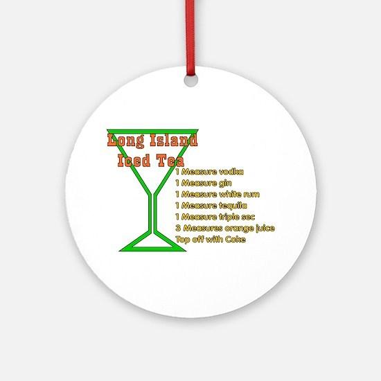 Long Island Iced Tea Ornament (Round)
