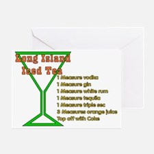 Long Island Iced Tea Greeting Card