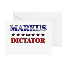 MARKUS for dictator Greeting Card