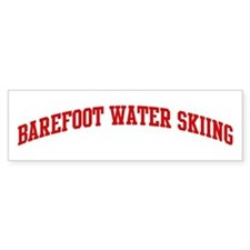 Barefoot Water Skiing (red cu Bumper Bumper Sticker