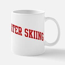 Barefoot Water Skiing (red cu Mug
