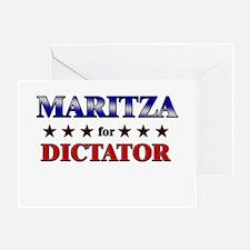 MARITZA for dictator Greeting Card
