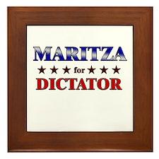 MARITZA for dictator Framed Tile