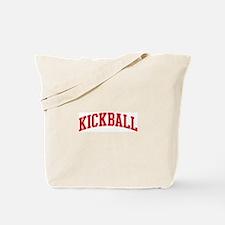 Kickball (red curve) Tote Bag