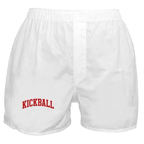 Kickball (red curve) Boxer Shorts