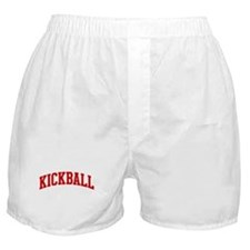 Kickball (red curve) Boxer Shorts