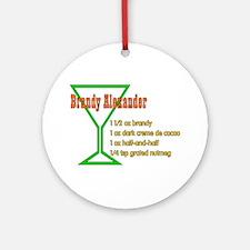 Brandy Alexander Ornament (Round)