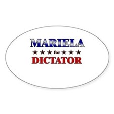 MARIELA for dictator Oval Decal