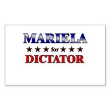 MARIELA for dictator Rectangle Decal