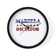 MARIELA for dictator Wall Clock