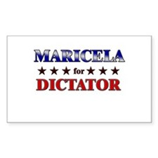 MARICELA for dictator Rectangle Decal