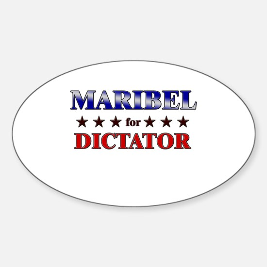 MARIBEL for dictator Oval Decal