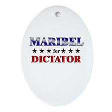 MARIBEL for dictator Oval Ornament