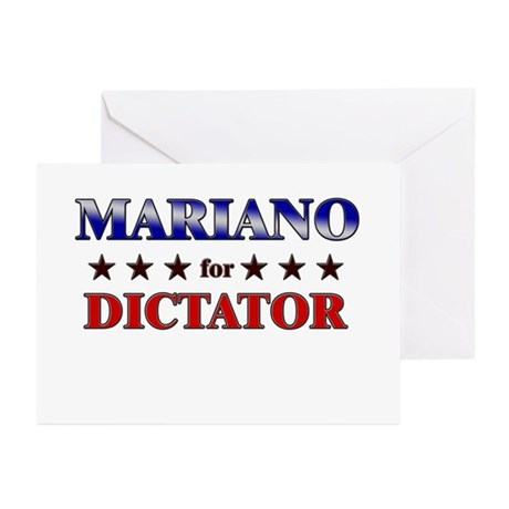 MARIANO for dictator Greeting Cards (Pk of 10)